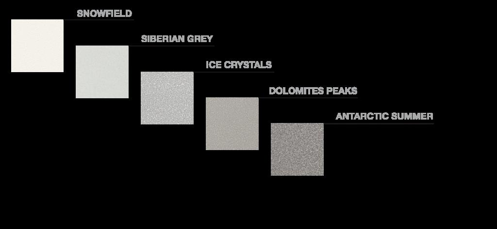 colores elemento Nieve