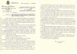 La letra circular n. 15 del Ministerio del Interior de 1938