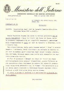 La carta circular n. 70 del Ministerio del Interior
